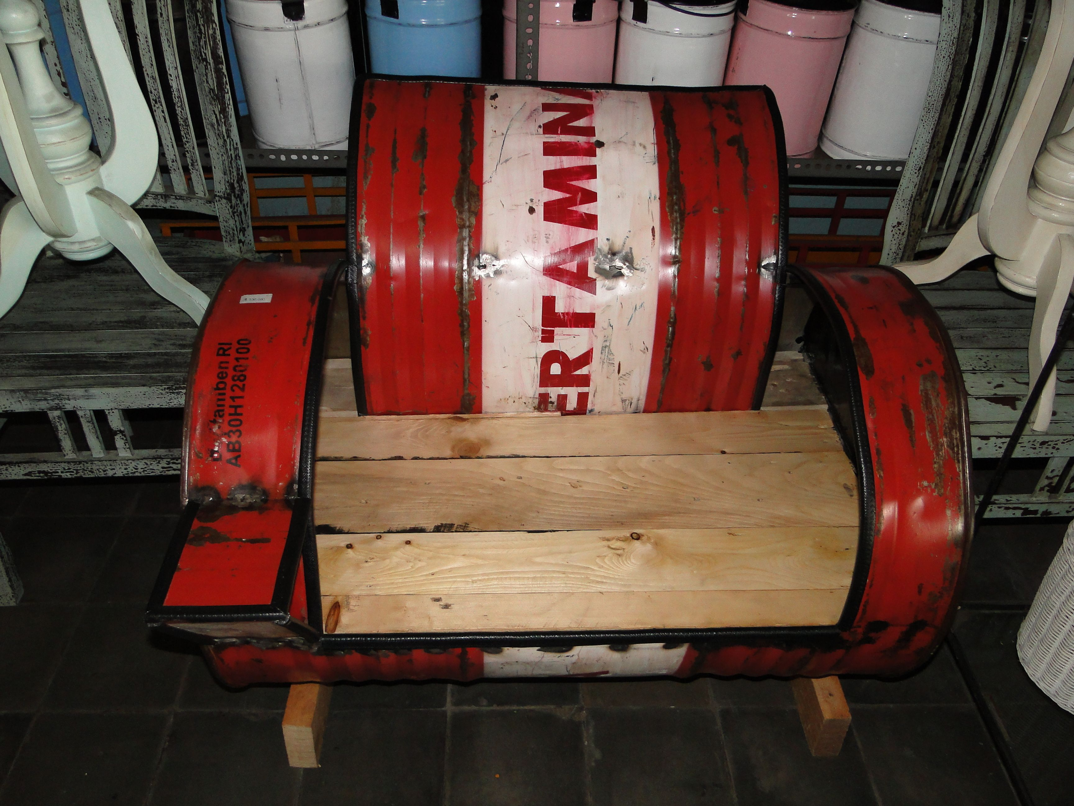 Drum Chair Recycled Oil Drum Chair From Bali Http Baliandbeyond Ca