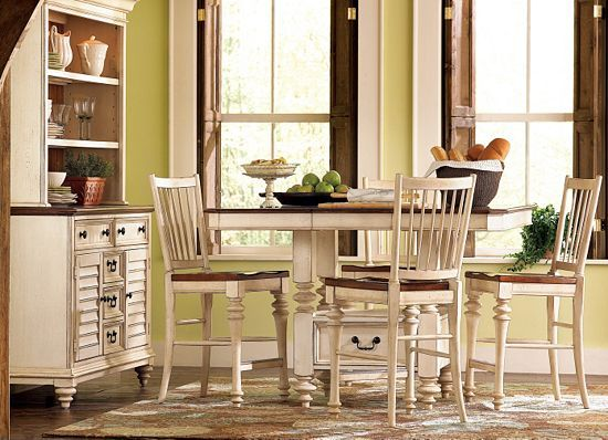 havertys newport sofa table detroit pistons atlanta hawks sofascore dining rooms, southport pub - distressed white ...