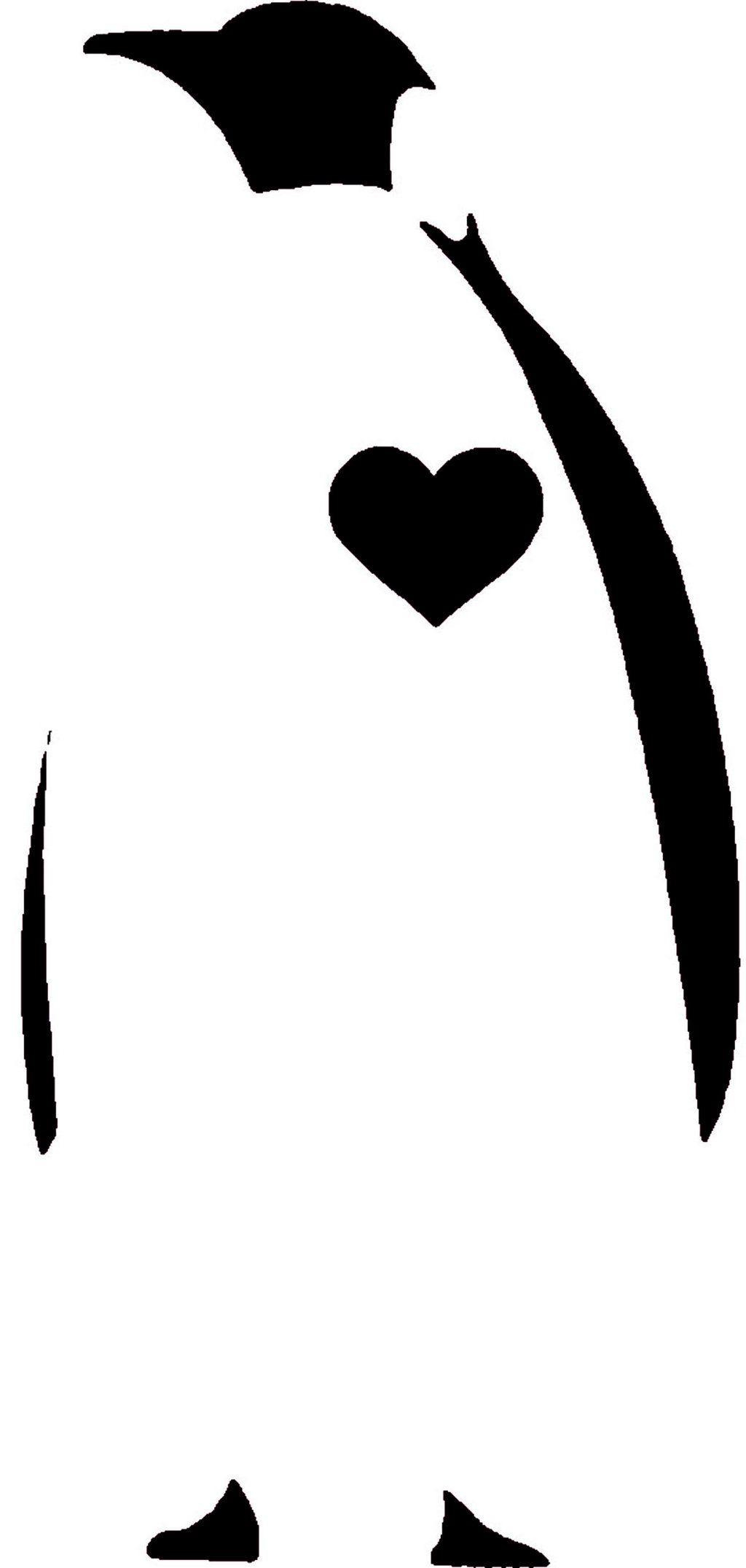 Penguin Stencil For Wall Art Maybe