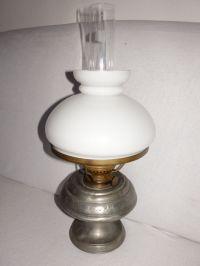 Tin Petroleum lamp, Oil lamp France, table lamp, Zinn ...