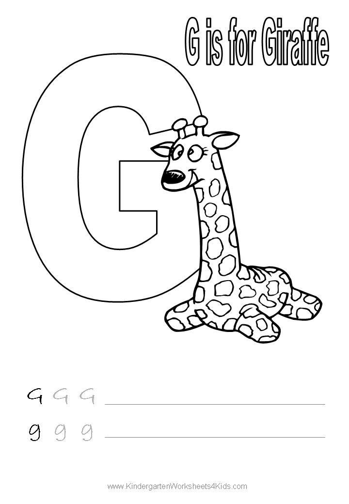 Letter G Worksheets Preschool Coloring Sheets