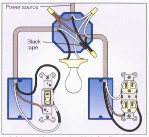 Light And Outlet 2 Way Switch Wiring Diagram Electrical