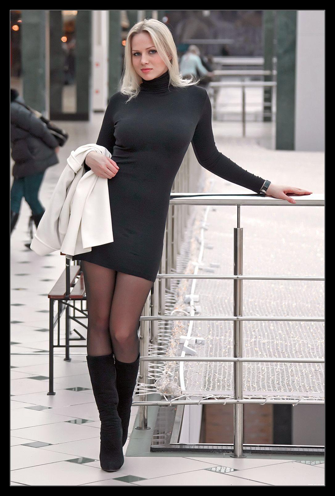 What Boot High Tall Heel Wear Black