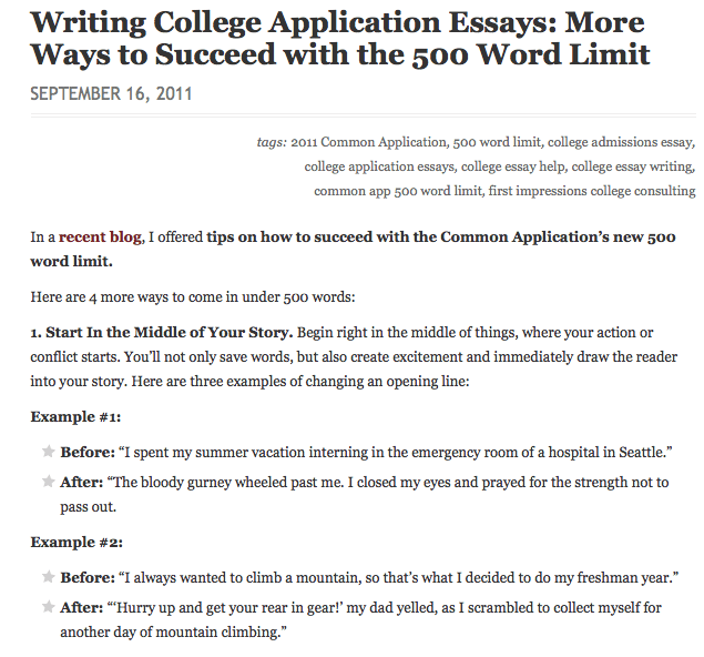 ways to start off a college essay How to write the perfect essay in 9 easy steps is an excerpt from use one branch off the circle for draft your essay – get on the computer and start in the.