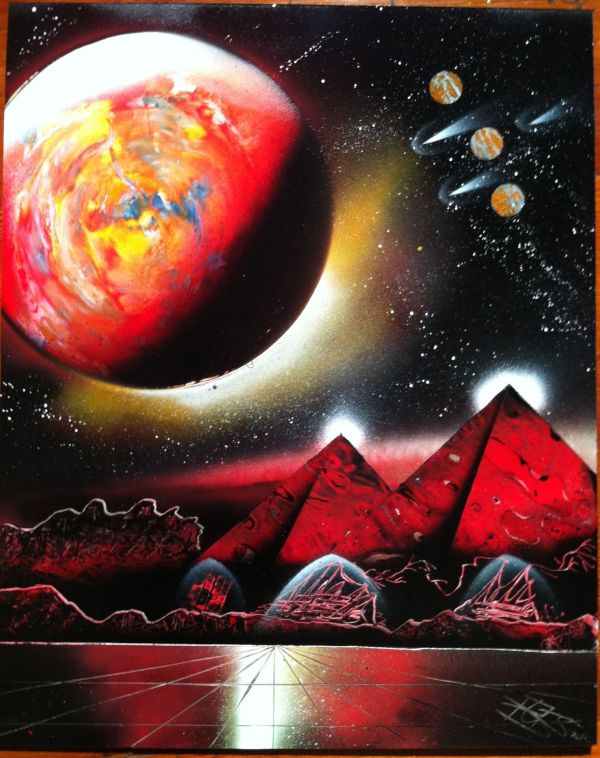 Spray Paint Art Ideas Galaxy