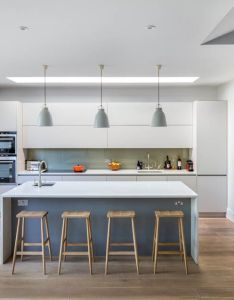 Open plan kitchen dining living also this case study shows the refurbishment and extension of  family rh pinterest