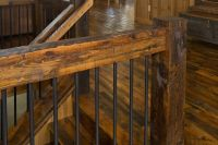 Log Railings & Log Stairs