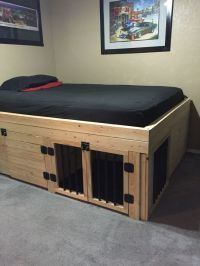 Bed with built in dog crate. | House and Home | Pinterest ...