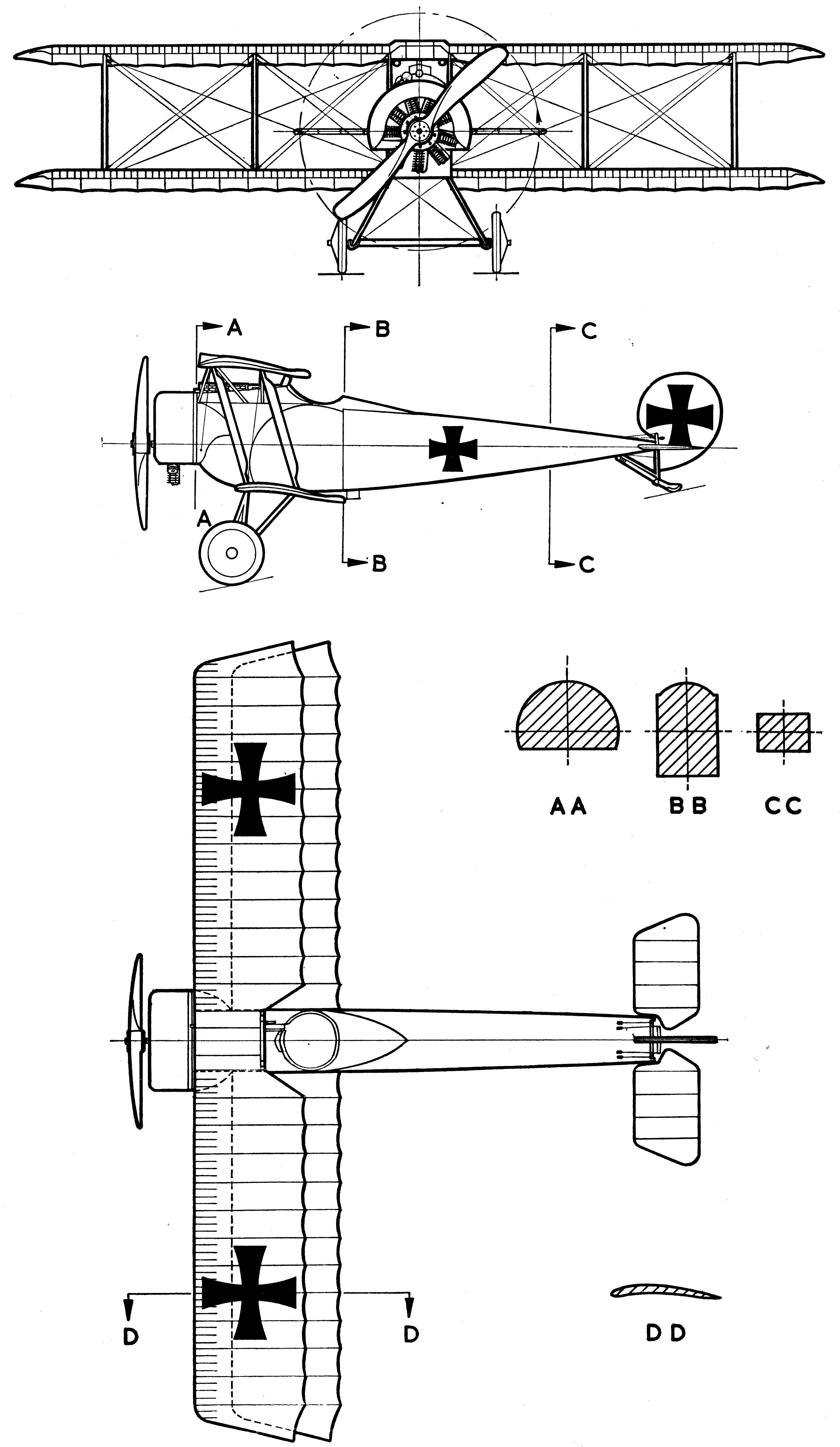 Fokker D Ii Blueprint