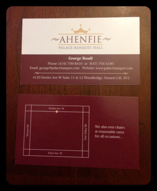Logo And Business Card Design Ahenfie Palace Banquet