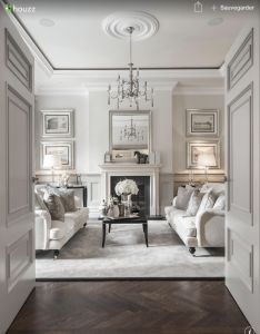 The silver touches in this room are stunningly elegant and offset by rich herringbone floor via alexander james interiors also classy my house pinterest rh za