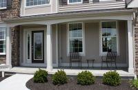 Exterior, : Cute Contemporary Front Porch Design And ...