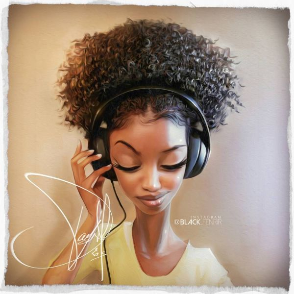 Pamonh Sisouk Black-fenrir Character Design Black Natural Hair Art