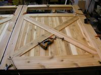 homemade wood carriage house garage door plans | Carpentry ...