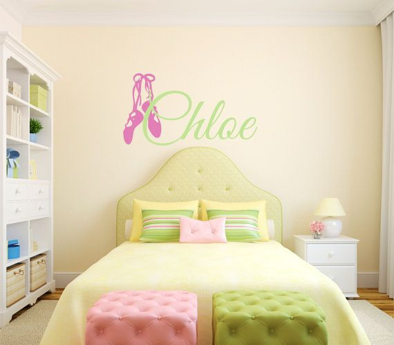 Dance girls name wall decal custom quotes teen decor also rh pinterest