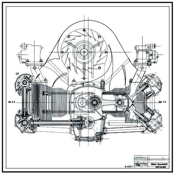 porsche 4 cam engine diagram