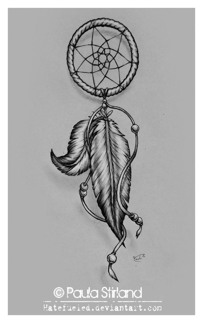 Dreamcatcher tattoo..some blue into pirple on the feathers