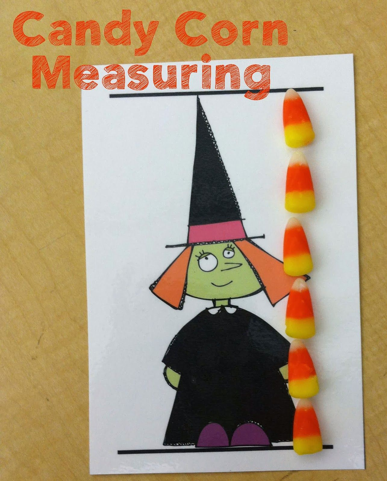 Candy Corn Measuring From Fantastic First Grade Froggies