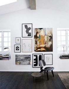 Dream house the artwork sfgirlbybay in interior design also mix different art medium and sizes of work grouped together for  rh pinterest