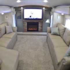 Used Kitchen On Wheels For Sale Lamps 2014 Drv Tradition 390 Luxury Front Living Room 5th Wheel