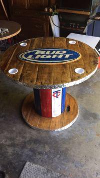 Wooden Spool Bud Light Table