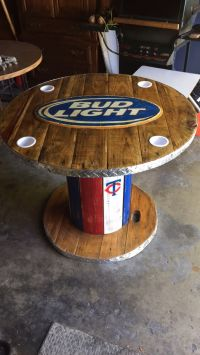 Wooden Spool Bud Light Table | My Creations/Cool Spool ...