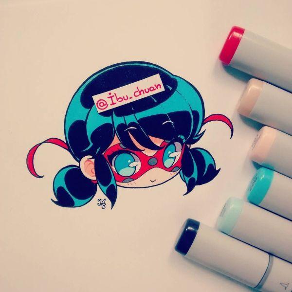 Copic Marker Miraculous Lady Bug 3 Alguien Mas La Ve Orgorgorg Perd Tengo Dibujos