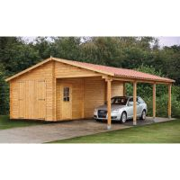 Wood sheds with carports | Tuin 13ft x 27ft (4m x 8.30m ...