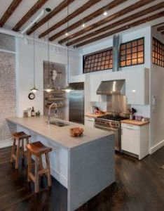 Reiko feng shui interior design loft renovation contemporary kitchen new york also rh pinterest
