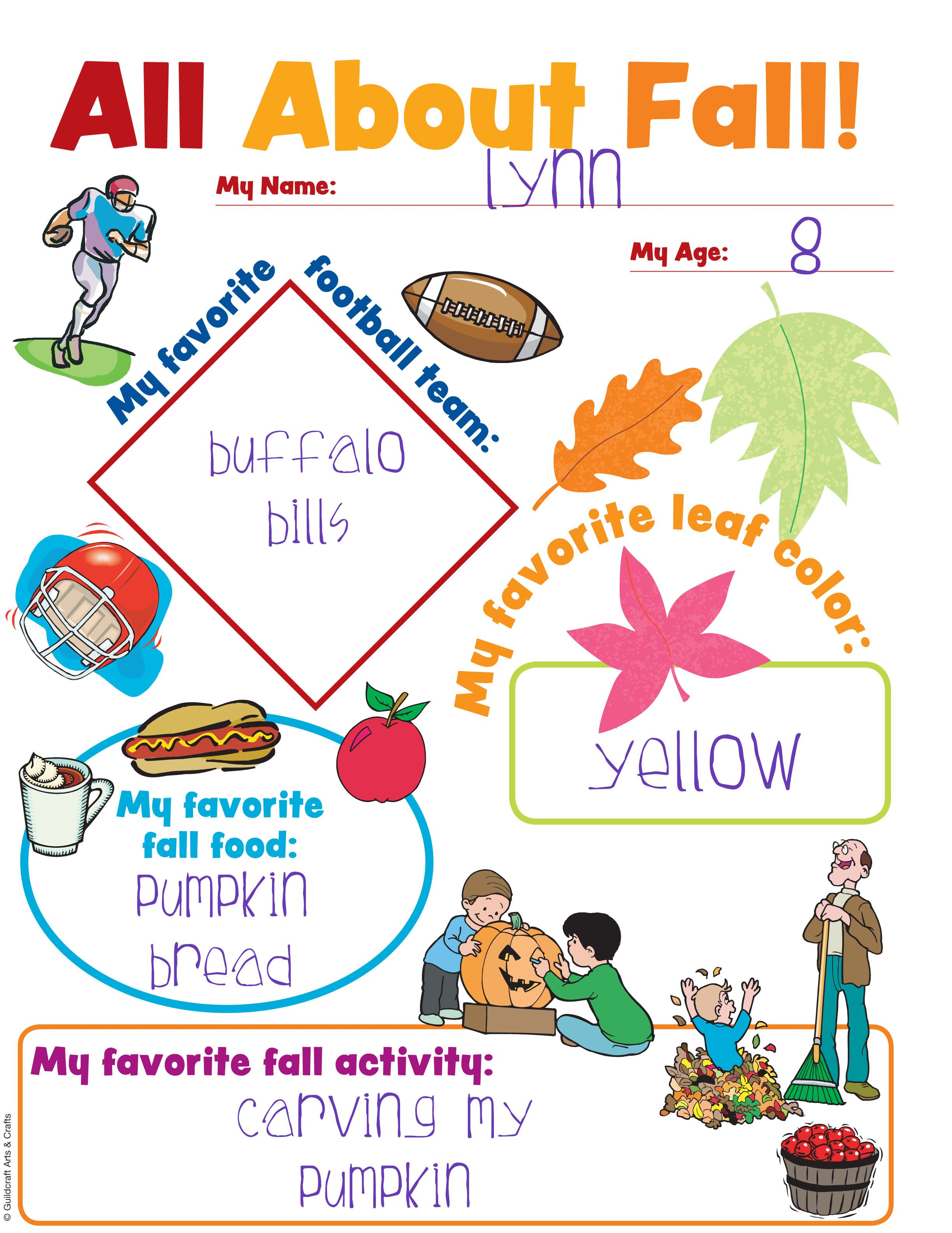 All About Fall Chart