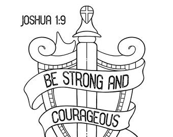 The Fruit of the Spirit coloring page / Three sizes