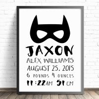 Personalised Baby Nursery Wall Art Print, Birth ...