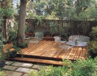 Shady Deck around tree. Keith Davitt. Beyond the Lawn ...