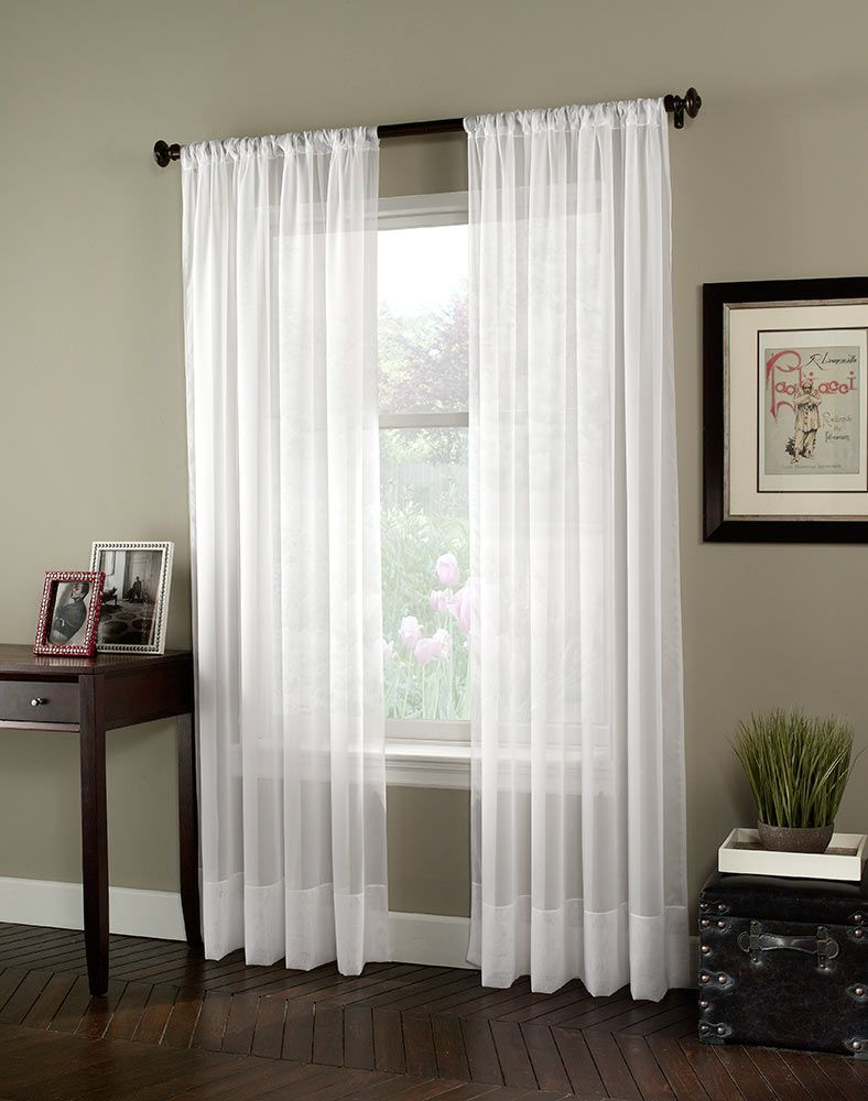 our living room curtains Soho Voile Lightweight Sheer