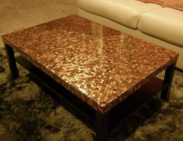 Penny Coffee Tables on Pinterest  Penny Table Tops Penny Wall and Penny Countertop