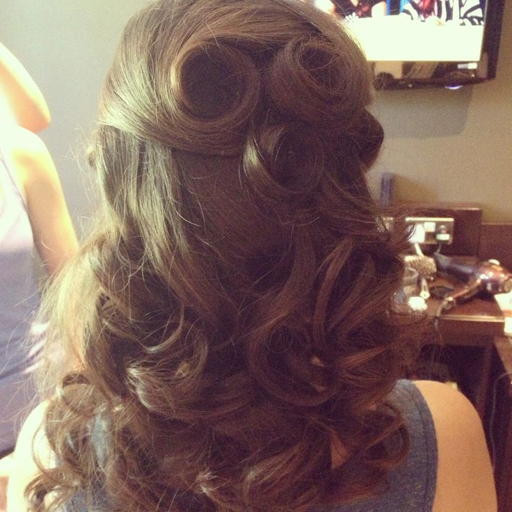 Half Updo Hairstyles Updo Large Curls And Half Updo Hairstyles