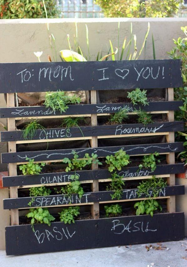 Pallet Ideas Vertical Garden Balcony Herb Garden Mothers Day T