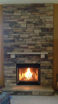 Boral Chardonnay Country Ledgestone Fireplace Stacked with ...