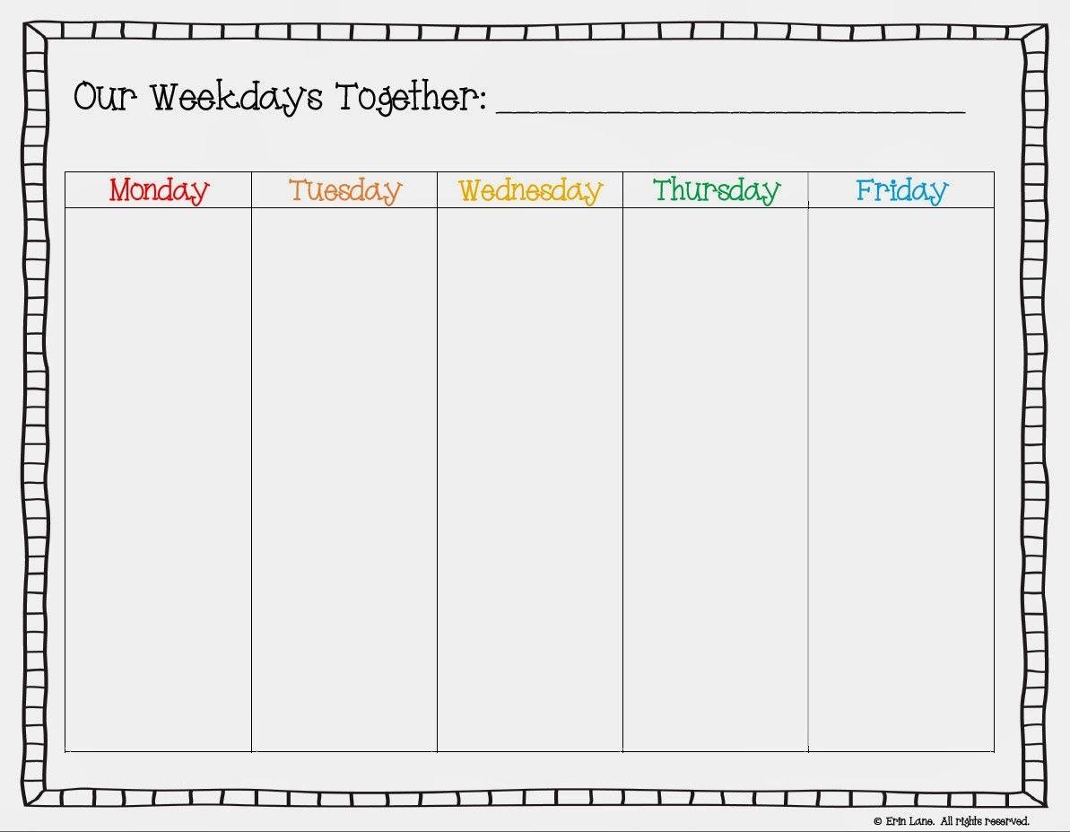 Free Printable Weekday Only Calendar