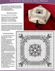 Elizabethan biscornu  project chart and information also black rh uk pinterest