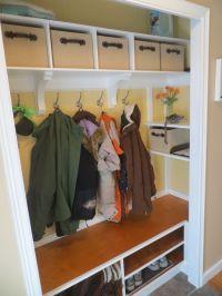 entryway closet ideas | mudroom/entry closet ideas / coat ...