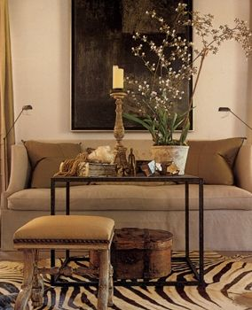 Zebra rug with neutral room also very calm recipes to cook pinterest chic living animal rh