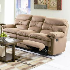 Microfiber Reclining Sofa With Drop Down Table Sofas On Credit For Unemployed S