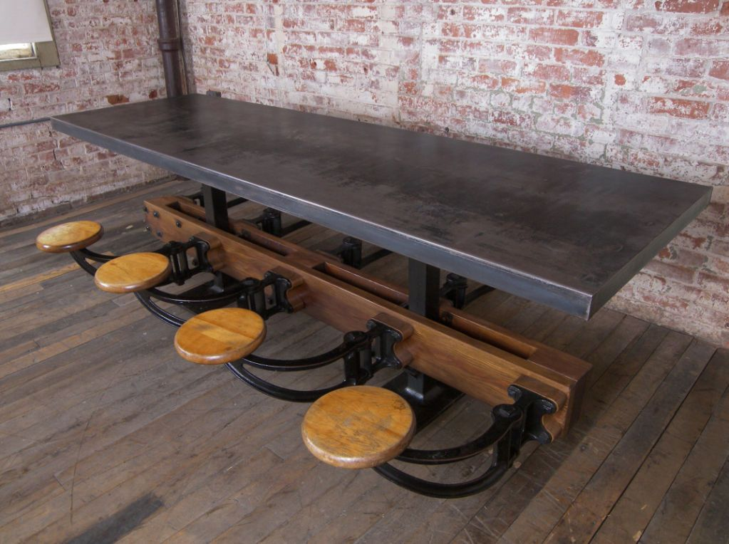 Galvanized Picnic Wood Table