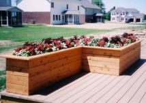 L-shaped Bench Planter Box Crafty Projects