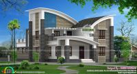 Modern style curved roof villa | Home inspiration ...