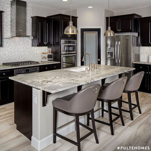 Design Inspiration A Gorgeous Modern Pulte Kitchen Featuring Black And Grays Homes