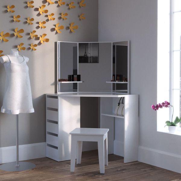 Dressing Table Vanity With Mirror Corner Dresser