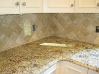 4x4 travertine tile backsplash - Google Search | Kitchens ...