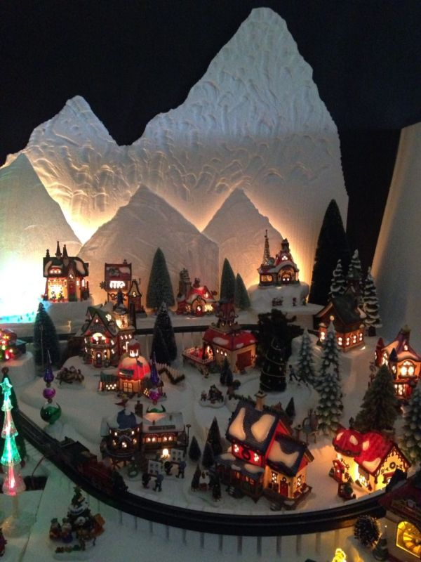 Section Of North Pole Christmas Village Dept